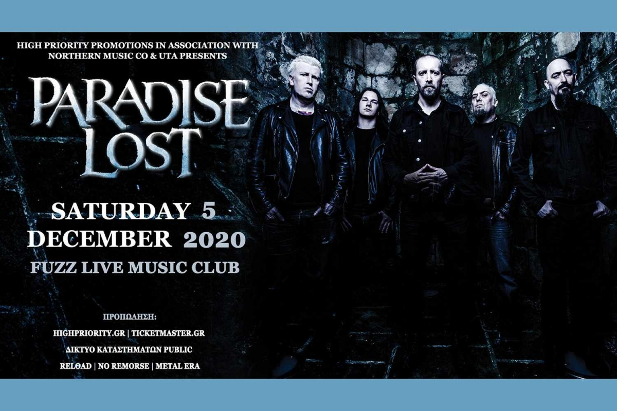 Paradise Lost Live in Athens | 5 Δεκεμβρίου 2020 | Fuzz Club