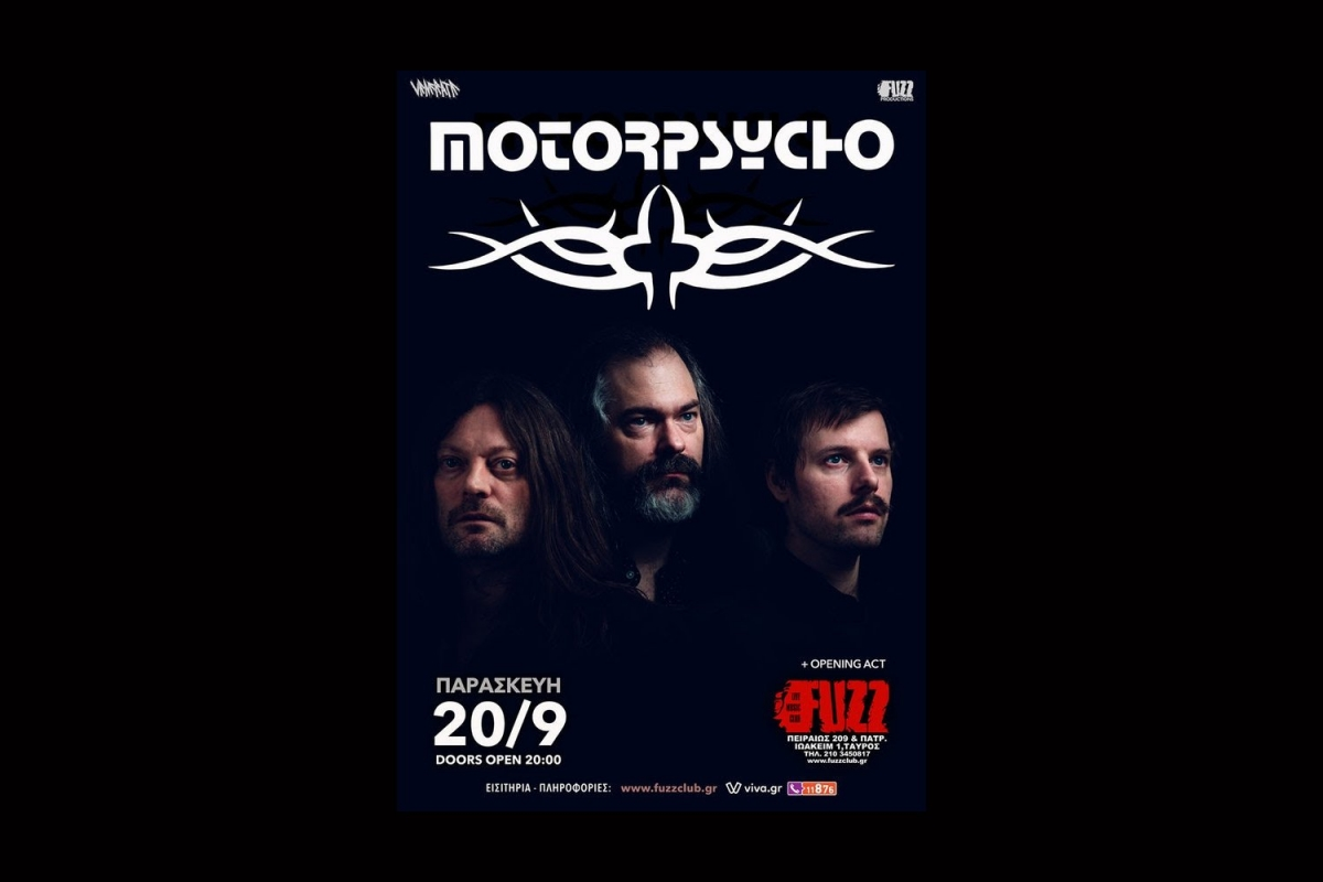 Motorpsycho live in Athens - 20/9, Fuzz Live Music Club