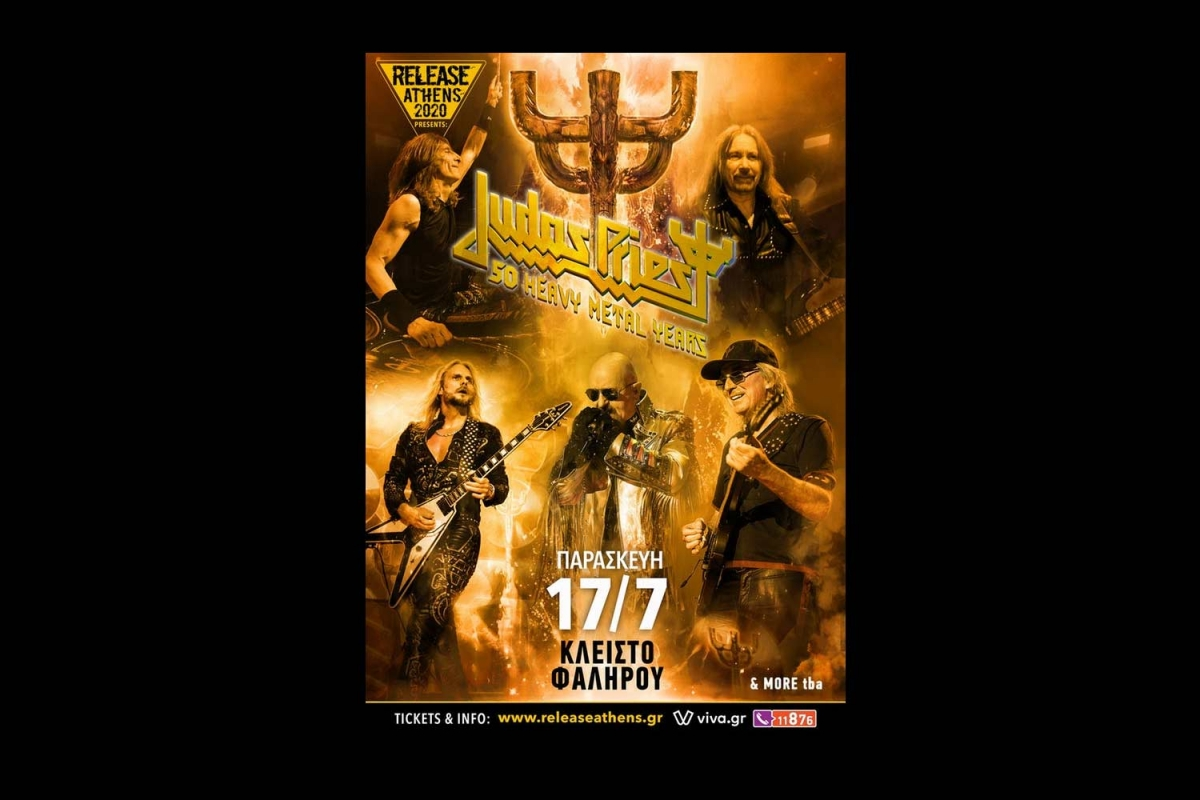 Release Athens presents: Judas Priest, 50 Heavy Metal Years - 17/7/20, Κλειστό Φαλήρου