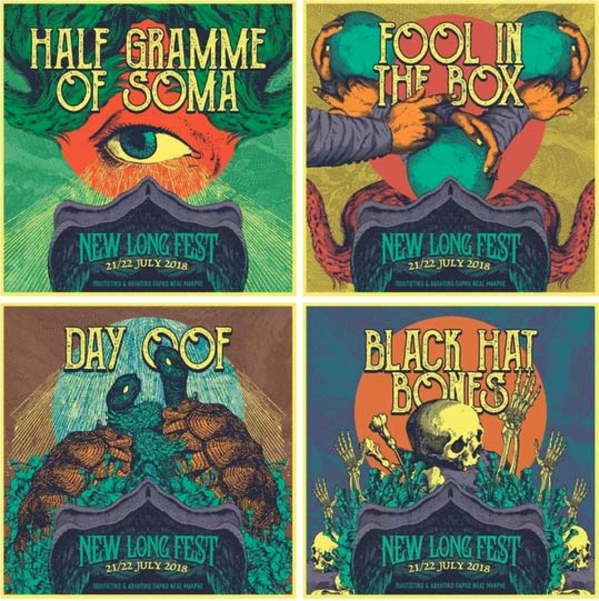 12 Ερωτήσεις πριν το New Long Fest - Half Gramme Of Soma, Black Hat Bones, Day Oof, Fool In The Box, (DAY 1, part 1)
