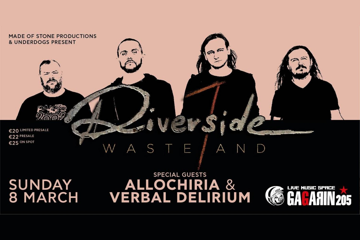 Riverside [PL] live in Athens, Gagarin205, Κυριακή 8 Μαρτίου