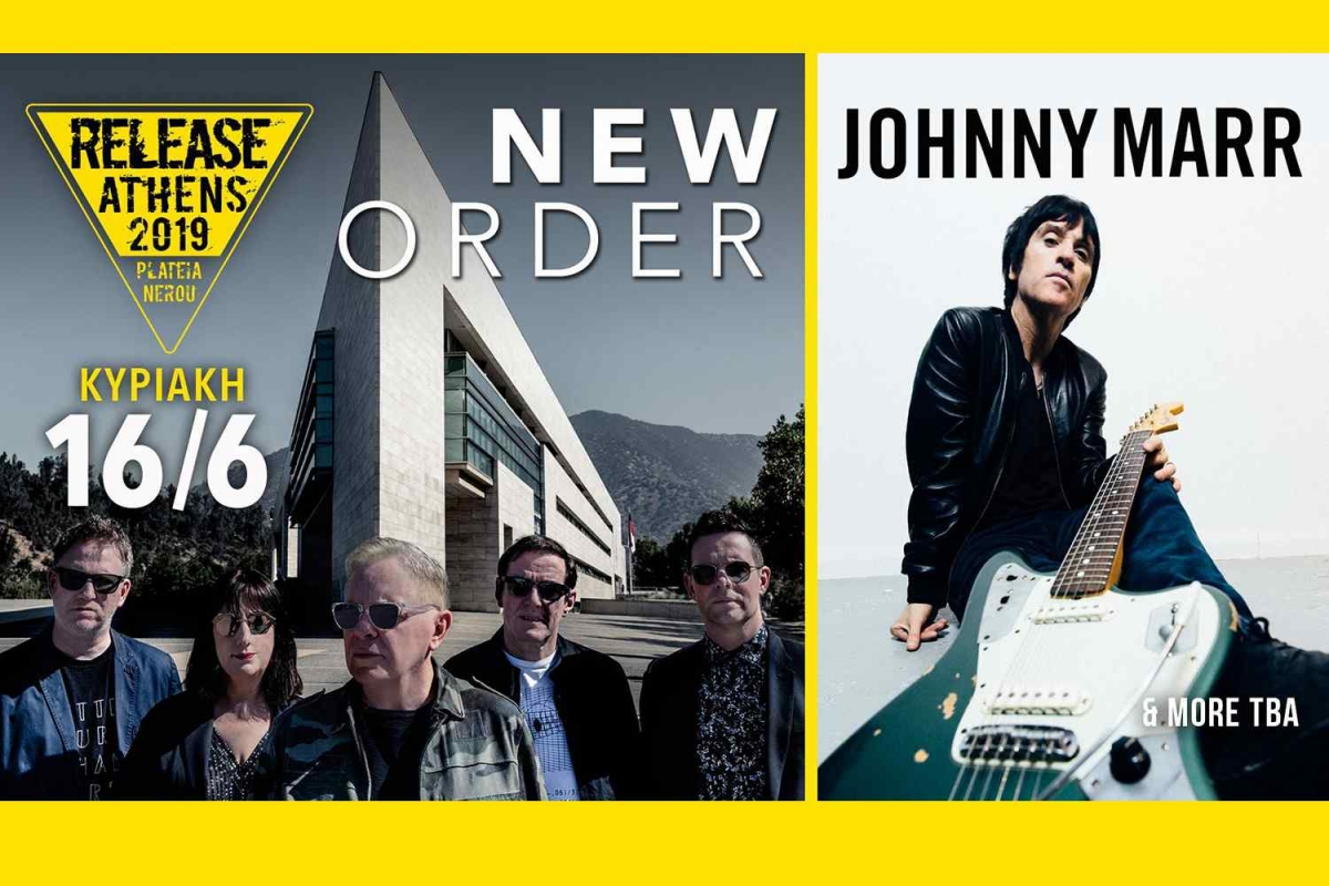 Release Athens 2019 / New Order + Johnny Marr + more tba - 16/6/19, Πλατεία Νερού