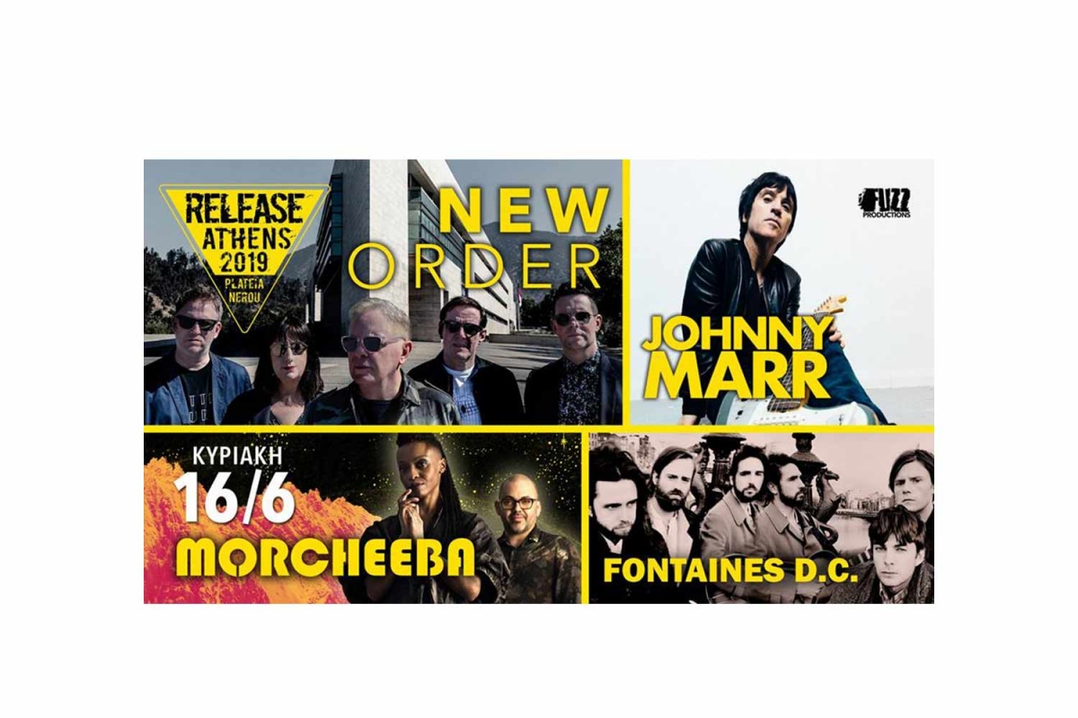 Release Athens Festival: Κυριακή, 16/6 - (New Order, Johnny Marr, Morcheeba, Fontaines D.C, Ta Toy Boy)