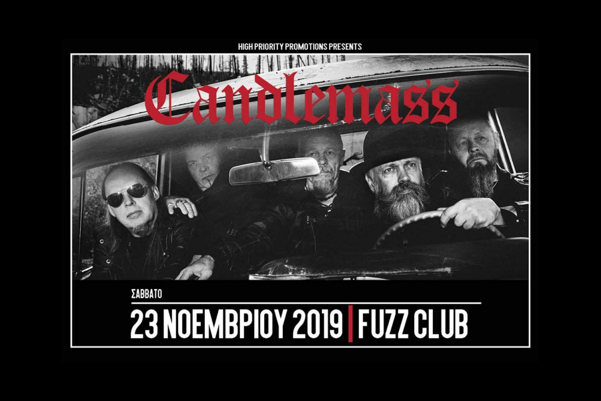 Candlemass: The Door to Doom -Σάββατο 23 Νοεμβρίου, Fuzz Club